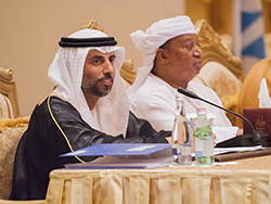 HE Suhail Mohamed Al Mazrouei, UAE's Minister of Energy & Industry and President of the OPEC Conference (l); and HE Mohammad Sanusi Barkindo, OPEC Secretary General