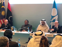 OPEC and non-OPEC officials at the press conference in Baku