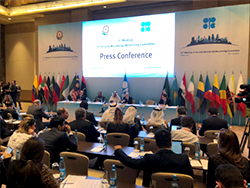 A press conference was held in Baku, Azerbaijan, following the 13th meeting of the JMMC