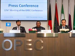 Following the 174th OPEC Meeting, a press conference was held at the OPEC Secretariat