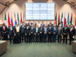 Group photo of OPEC and non-OPEC Ministers and OPEC Secretary General taken at the OPEC Secretariat in Vienna
