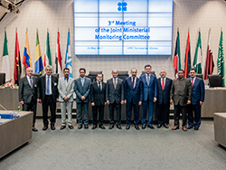 Group picture of OPEC and non-OPEC ministers and OPEC Secretary General taken at the OPEC Secretariat in Vienna