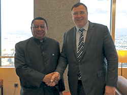 OPEC Secretary General HE Mohammad Sanusi Barkindo (l), with TOTAL's CEO Patrick Pouyanné (TOTAL Photo)