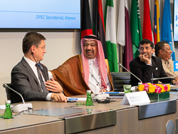 A joint press conference was held following the 4th OPEC and non-OPEC Ministerial Meeting, at the OPEC Secretariat in Vienna