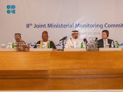A press conference was held following the 8th meeting of the JMMC in Jeddah, Saudi Arabia