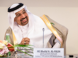 HE Khalid A. Al-Falih, Saudi Arabia's Minister of Energy, Industry and Mineral Resources, and President of the OPEC Conference