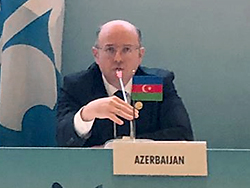 HE Parviz Shahbazov, Azerbaijan's Minister of Energy, delivers his statement