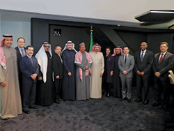 OPEC Secretary General pictured with Saudi Arabia's Minister of Energy, Industry and Mineral Resources and other officials