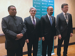 (l-r) HE Barkindo; HE Aldo Flores-Quiroga, Mexico's Deputy Secretary of Energy for Hydrocarbons; HE Khalid Al-Falih, Saudi Arabia's Minister of Energy, Industry & Mineral Resources; and HE Alexander Novak, Russia's Minister of Energy