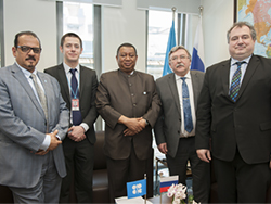HE Barkindo met with Russia's Ambassador and his delegation at the OPEC Secretariat in Vienna