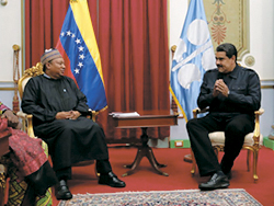 HE Maduro meets with HE Barkindo at Miraflores Palace