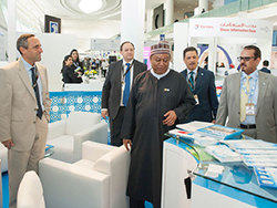 HE Barkindo, OPEC Secretary General, visits the OPEC stand at the exhibition