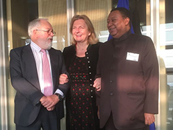 (r-l) HE Mohammad Sanusi Barkindo, OPEC Secretary General; HE Dr. Karin Kneissl, Austria's Foreign Minister; and Mr. Miguel Arias Cañete, EU Commissioner for Climate Action and Energy
