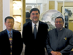 (r-l) HE Mohammad Sanusi Barkindo, OPEC Secretary General; HE Nur Bekri, Vice Chairman of China's National Development and Reform Commission and Administrator of the National Energy Administration; and HE Dr. Sun Xiansheng, IEF Secretary General