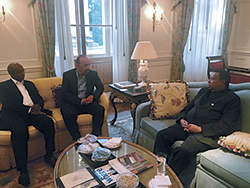The President of the OPEC Conference and the OPEC Secretary General meet with the Nigerian Delegation in St. Petersburg