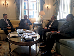 The President of the OPEC Conference and the OPEC Secretary General meet with the Libyan Delegation in St. Petersburg
