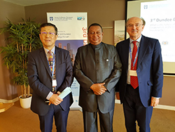 (r-l) Prof. Peter Cameron, Director, Dundee CEPMLP; HE Mohammad Sanusi Barkindo, OPEC Secretary General; and HE Dr. Sun Xiansheng, IEF Secretary General