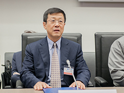 HE Dr. Sun Xiansheng, IEF Secretary General, pictured during the meeting at the OPEC Secretariat