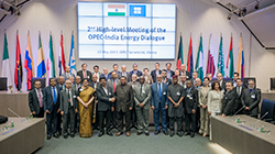 Group picture of the officials attending the 2nd High-level Meeting of the OPEC-India Energy Dialogue