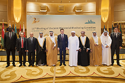 Group photo of OPEC and non-OPEC officials, taken at the 11th JMMC Meeting in Abu Dhabi