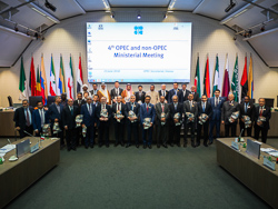 Group photo of OPEC and non-OPEC Ministers and officials, taken at the OPEC Secretariat in Vienna