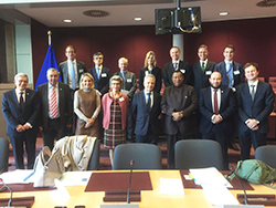 Group photo of the EU and OPEC delegates taken in Brussels, Belgium