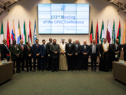 Group photo of OPEC officials taken at the OPEC Secretariat in Vienna