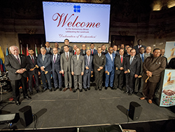 Group photo of OPEC and non-OPEC officials taken during the Anniversary Dinner at Palais Niederösterreich