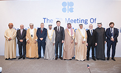 Group photo of OPEC and non-OPEC officials taken at the 7th meeting of the JMMC