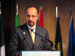 HE Khalid A. Al-Falih, Saudi Arabia's Minister of Energy, Industry and Mineral Resources; and President of the OPEC Conference