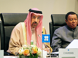 HE Khalid A. Al-Falih, Saudi Arabia's Minister of Energy, Industry and Mineral Resources, and President of the OPEC Conference (l); and HE Mohammad Sanusi Barkindo, OPEC Secretary General