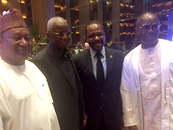 OPEC Secretary General (l), with dignitaries attending the APPO CAPE Congress and Exhibition in Malabo, Equatorial Guinea