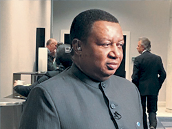 OPEC Secretary General pictured at the Summit in Paris, France