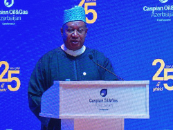 HE Mohammad Sanusi Barkindo, OPEC Secretary General, delivers his keynote address