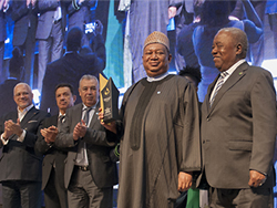 HE Barkindo, OPEC Secretary General, received the Africa Oil Man of the Year Award in Cape Town, South Africa