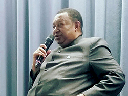 HE Mohammad Sanusi Barkindo, OPEC Secretary General, speaks at the International Oil Summit in Paris, France