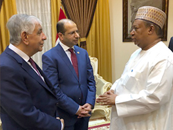 HE Barkindo, OPEC Secretary General (r) met with HE Al-Jabouri, Speaker of Iraq's Parliament (c), and HE Al-luiebi, Iraq's Oil Minister, in Baghdad