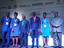 HE Mohammad Sanusi Barkindo, OPEC Secretary General (first r); pictured with officials at the Nigeria Oil and Gas Conference and Exhibition