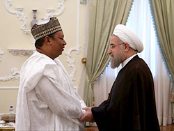 HE Dr. Rouhani (right) and HE Barkindo