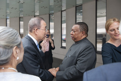 The meeting took place in Vienna, home to both the OPEC Secretariat and the Ban Ki-moon Centre for Global Citizens