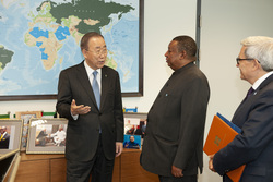 HE Mohammad Sanusi Barkindo, OPEC Secretary General, with HE Ban Ki-moon, former UN Secretary General