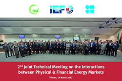 Group picture of the IEA, IEF and OPEC officials taken at the OPEC Secretariat