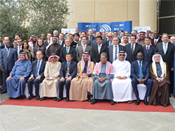 Group picture of officials attending the 7th IEA-IEF-OPEC Symposium in Riyadh, Saudi Arabia