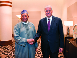 HE Sellal, Algeria's Prime Minister (right) with HE Barkindo, OPEC Secretary General