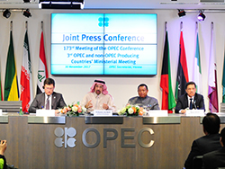 A joint press conference took place at the OPEC Secretariat
