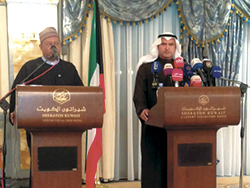 Joint Press Conference by HE Issam A. Almarzooq, Kuwait's Minister of Oil (r), and HE Barkindo, OPEC Secretary General
