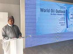 HE Barkindo, OPEC Secretary General at the launch of the WOO 2016