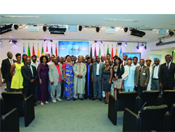 Members of Nigeria's community in Austria at the OPEC Secretariat