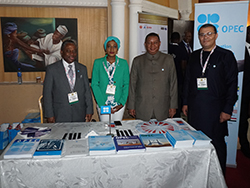 HE Barkindo, OPEC Secretary General (second r); visits OPEC's stand at the exhibition