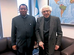 Dr. Fadhil J. Chalabi, former Deputy Secretary General and Acting Secretary General of OPEC (r), with HE Mohammad Sanusi Barkindo, OPEC Secretary General